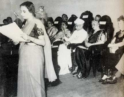 Third International Conference of Family Planning Association, India, 1952. Lady Rama Rau is seated second from left.