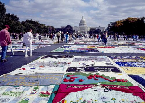 Cleve Jones talks about the AIDS quilt (NAMES project)